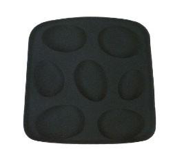 Sitzkissen für Stuhl Supernatural von Moroso Farbe schwarz