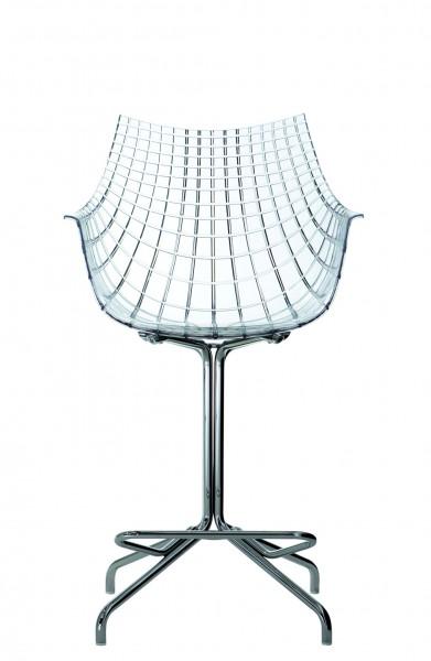 Barhocker Meridiana mit transparenter Sitzschale von Driade