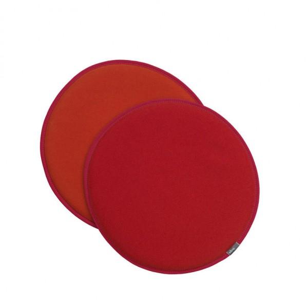 Sitzkissen Seat Dots von Vitra Oberseite rot/poppyrot (63) Unterseite orange (07)