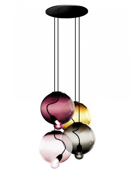 Pendelleuchte Meltdown - Grape of 4 Bowls von Cappellini