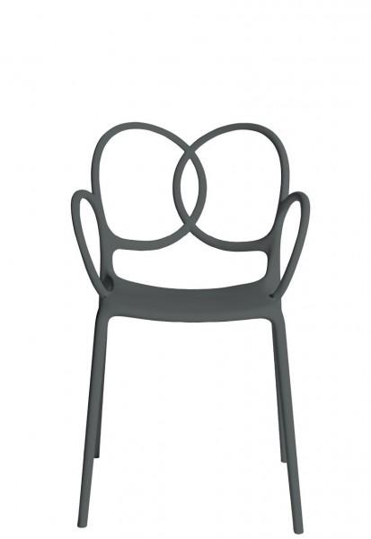 Sissi Armlehnstuhl Farbe dunkelgrau Driade