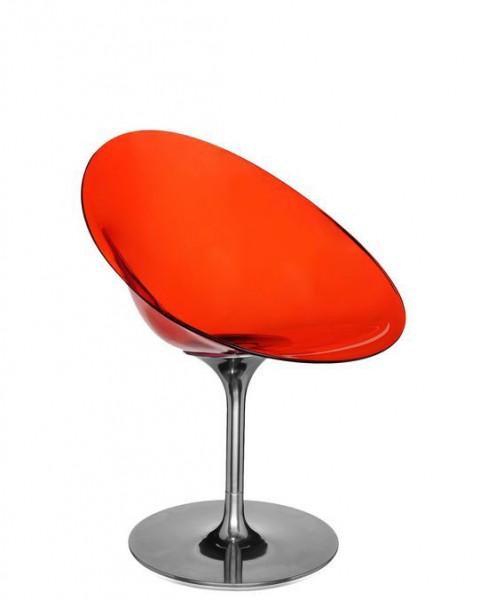 Schalensessel Ero/S von Kartell Sitzschale transparent orange
