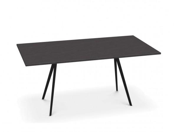Tisch Baguette outdoorfähig Tischplatte Schiefer160 cm x 85 cm, Tischbeine polyesterlackier schwarz Magis