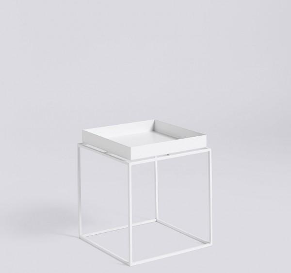 Beistelltisch Tray Table Small Square weiss von HAY