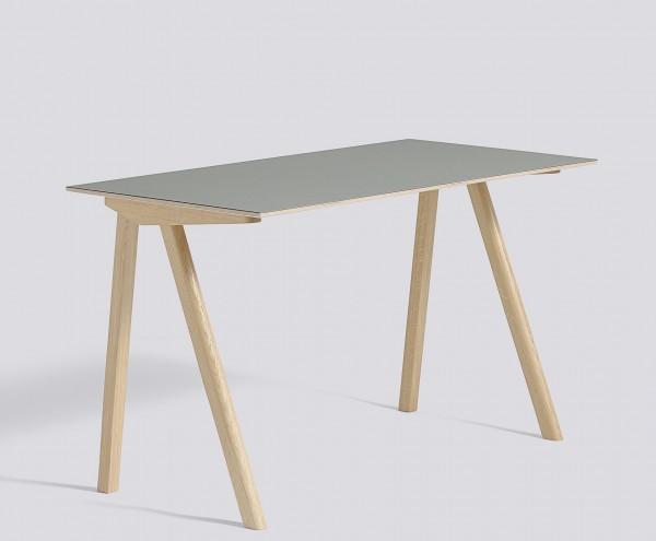 Schreibitsch Copenhague / CPH 90 Desk Platte Linoleum grau Untergestell Eiche matt lackiert Hy