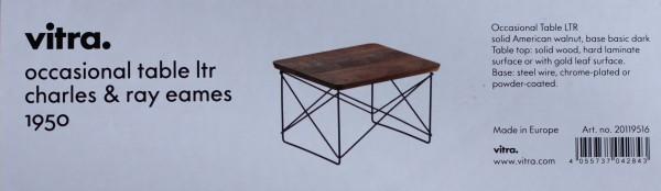 Beistelltisch Occasional Table LTR Platte am. Nussbaum, Gestell schwarz Vitra