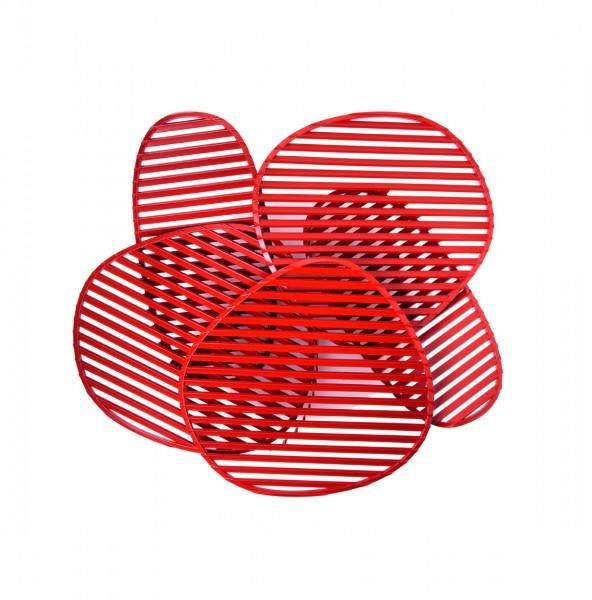 Wandleuchte Nuage von Foscarini, in der Farbe rot, Design Philippe Nigro