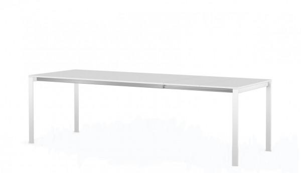 Tisch be-Easy-Kristalia-89x170 ausziehbar bis 250 cm Tischplatte Kos white