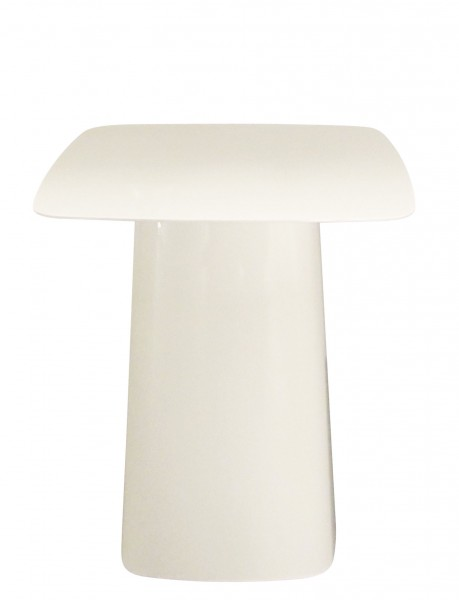 Ausstellungsstück Beistelltisch Metal Side Table Größe mittel, Farbe weiß hochglänzend von Vitra