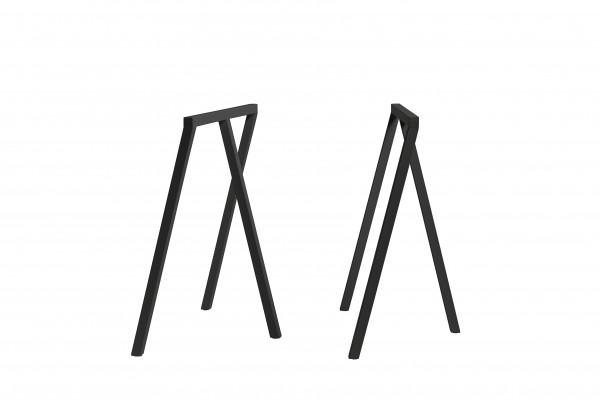 Tischböcke Loop Stand Frame von Hay in schwarz