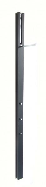 Wandgarderobe Line schwarz matt (58), Haken chrom glänzend von Schönbuch