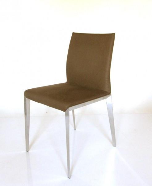 6er Set Stuhl Dart von Molteni & C. Bezugstoff Kiew K7031, Gestell Aluminium Hochglanz