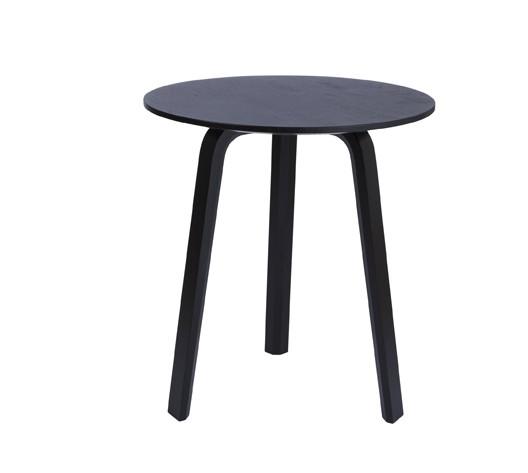 Beistelltisch Bella Coffee Table von Hay, schwarz, Durchmesser 45 cm, Höhe 49 cm
