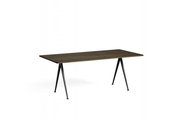 Pyramid Table 02 Platte Eiche smoked, Gestell schwarz, 190 x 85 cm, Hay