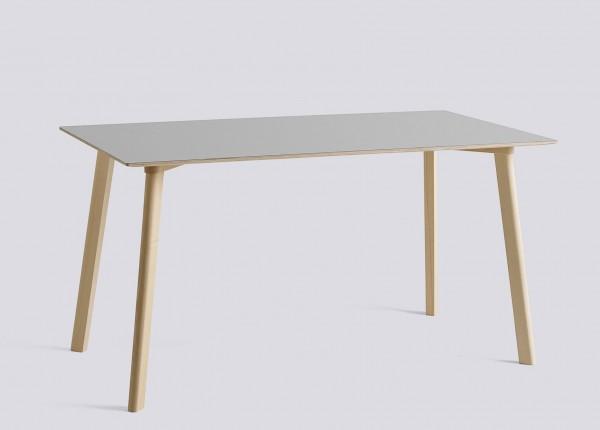 Tisch Copenhague Deux CPH Deux 210 Tischplatte Laminat dusty grey Tischbeine Buche, Länge 140 cm