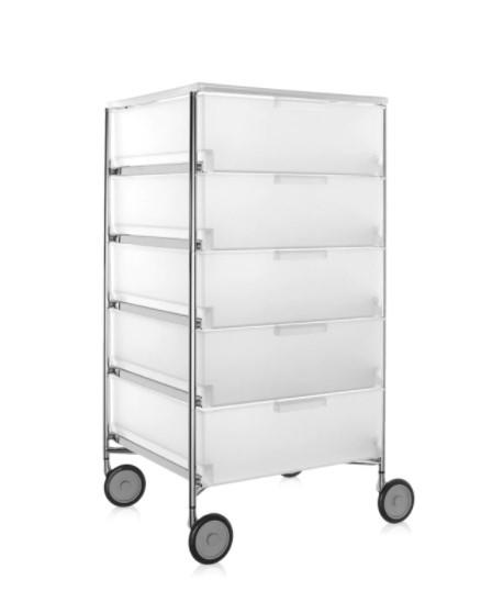 Container Mobil 2034 mit Rollen von Kartell in der Ausführung opal eisfarben